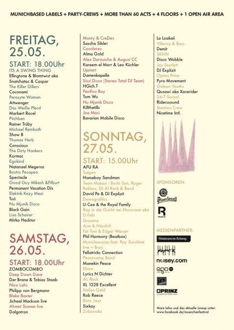 Muenchenfestival - 3 Tage – 4 Areas mit Coconami + Attwenger 1