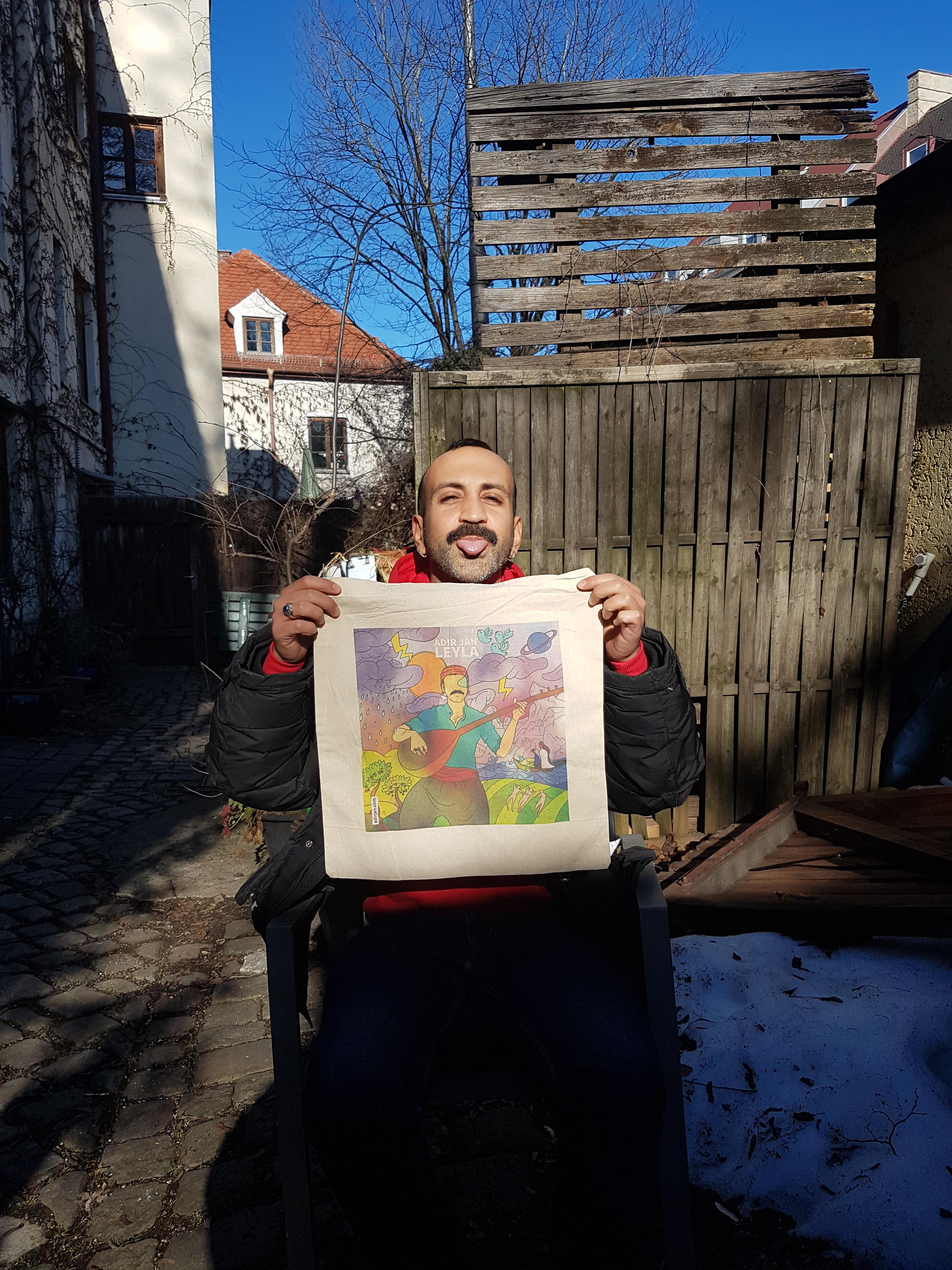 Adir's juuter Jutebeutel - Albumcover naturfarben