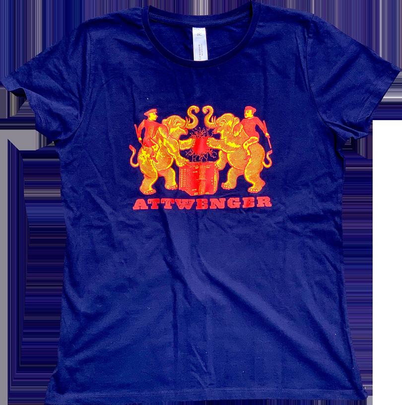 Attwenger Shirts - Elefanten - Dunkelblau