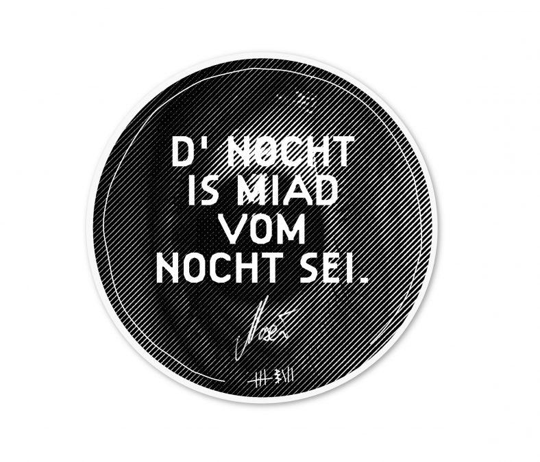 Maxi Pongratz - D' NOCHT IS MIAD VOM NOCHT SEI - Stofftasche 2